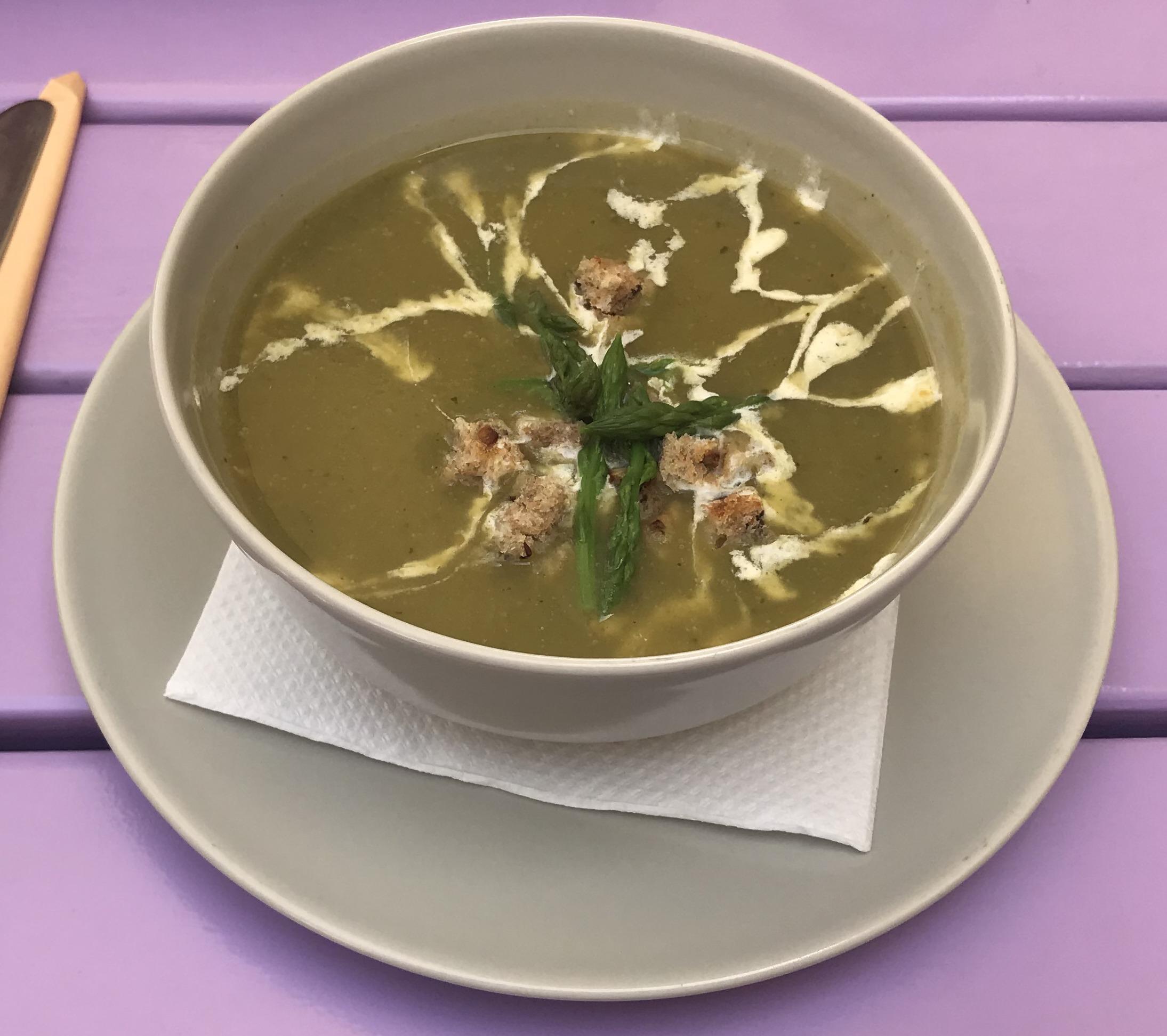 Asparagus vegan soup Artha Porec