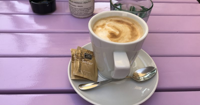 Vegan coffee in Porec