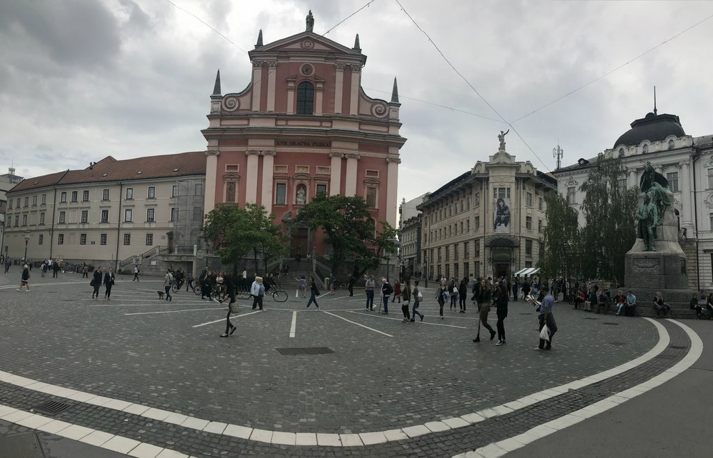 Square in Ljubljana near Barbarella