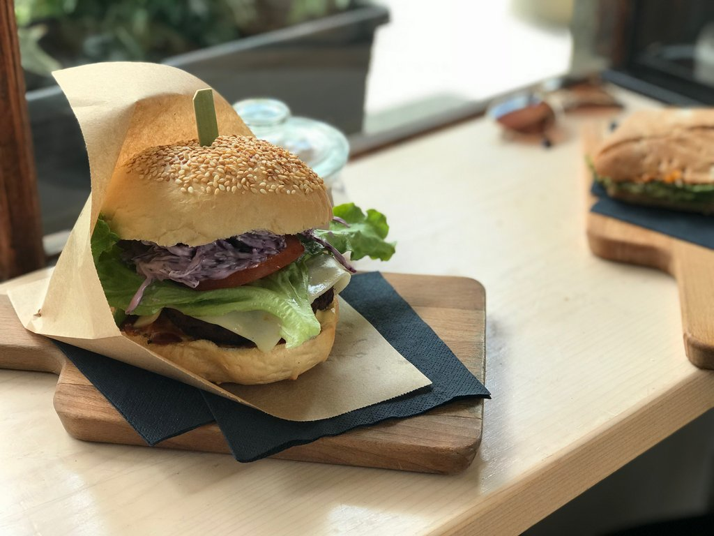 Vegan cheeseburger in Ljubljana - Review
