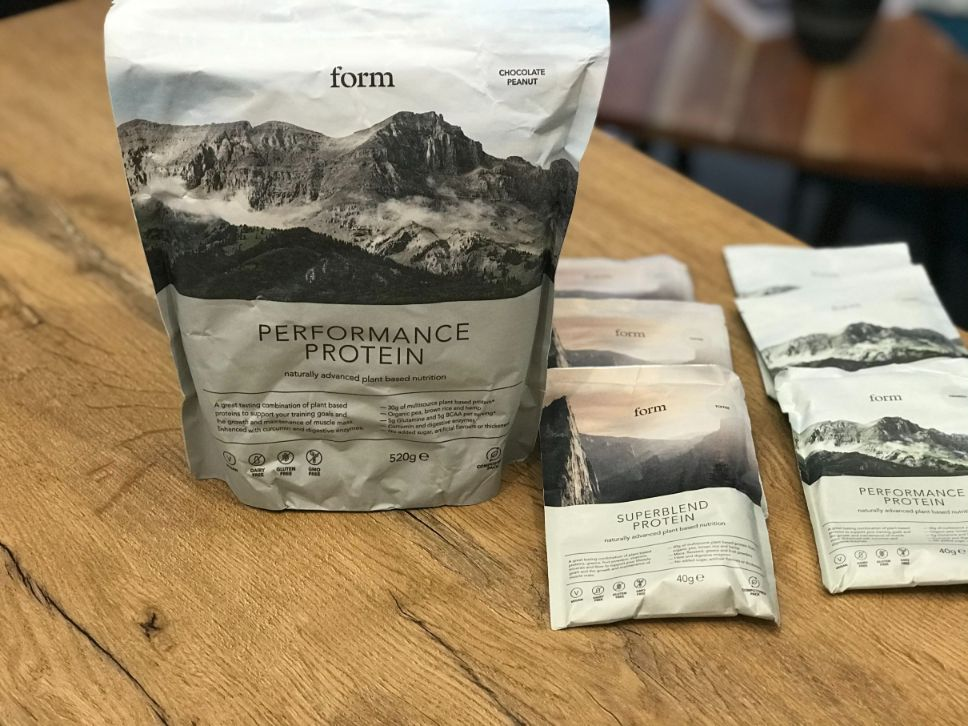 Form Superblend Protein Powder Advanced Plant Non-GMO Vanilla and Toffee
